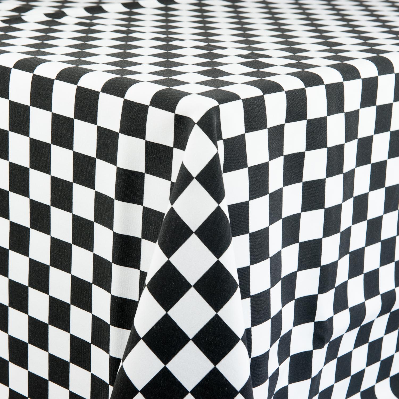 ... White/Black U0026 White Check Tablecloth. ; 