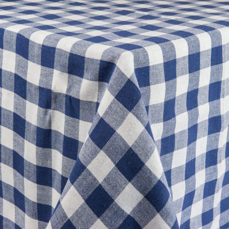 Genial ... White/Blue U0026 White Check Tablecloth. ; 